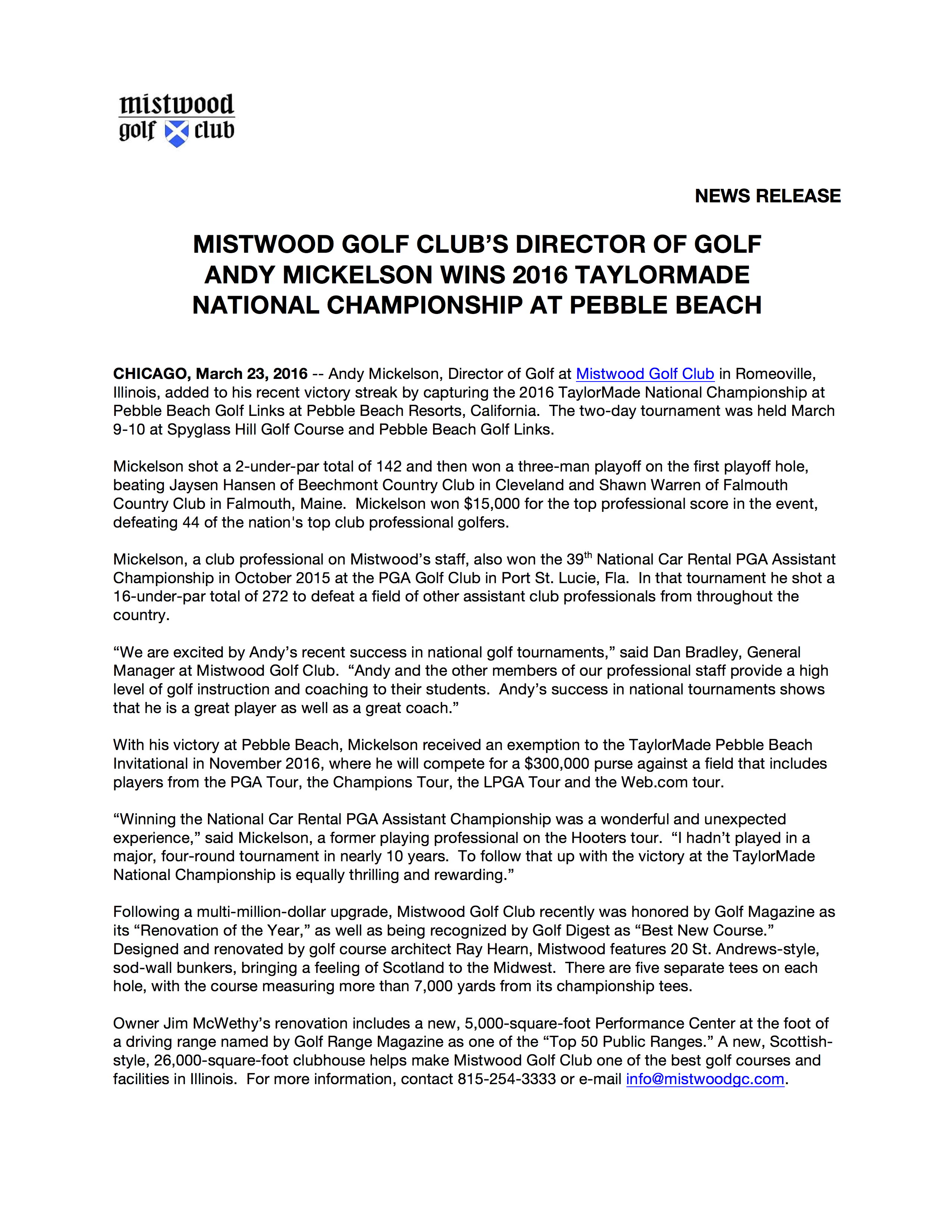 Mistwood Mickelson Wins at Pebble Beach Release FINAL